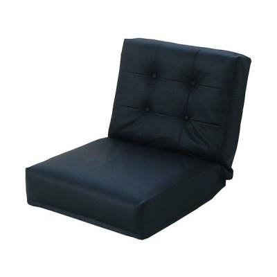 リクライニング座椅子 座椅子 エンジェル S シングル 合皮 レザー ブラック 幅53cm リクライニング チェア ソファ リクライニングソファ リクライニングチェア