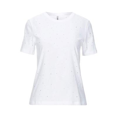 ONLY T シャツ ホワイト S オーガニックコットン 100% T シャツ