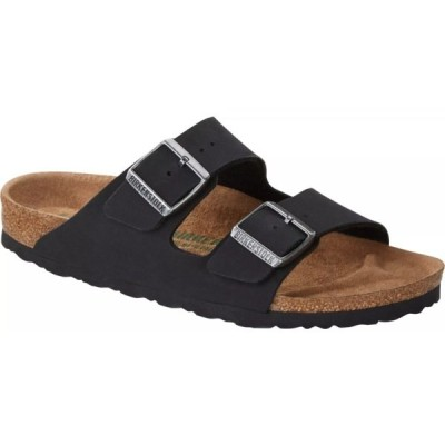 ビルケンシュトック サンダル シューズ レディース Birkenstock Women's Arizona Vegan Birko-Flor Pull Up Sandals Black