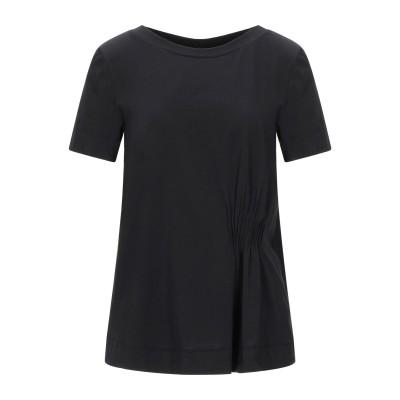 アルファスタジオ ALPHA STUDIO T シャツ ブラック 44 コットン 95% / ポリウレタン 5% T シャツ
