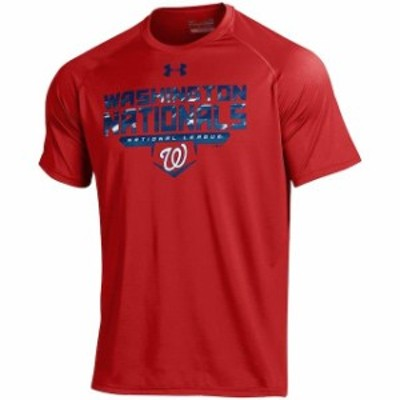 Under Armour アンダー アーマー スポーツ用品  Under Armour Washington Nationals Red Tech Performance T-Shirt