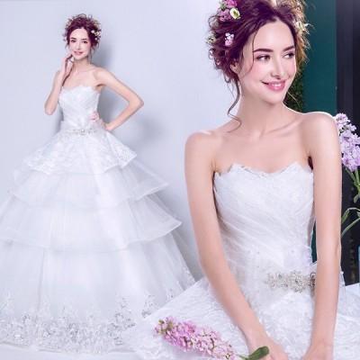 ウエディングドレス 花嫁 ドレス 二次会 ウェディングドレス 安い 結婚式 プリンセス エンパイア 披露宴 ロングドレス ブライダル 白 wedding dress