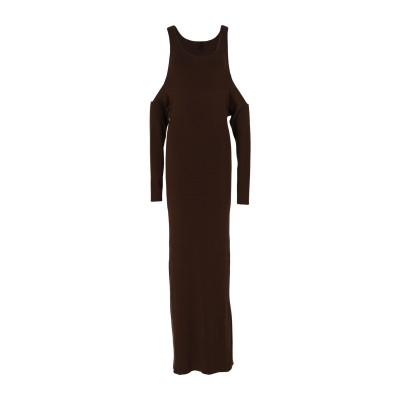 BEN TAVERNITI™ UNRAVEL PROJECT ロングワンピース&ドレス ブラウン S コットン 85% / カシミヤ 15% ロング