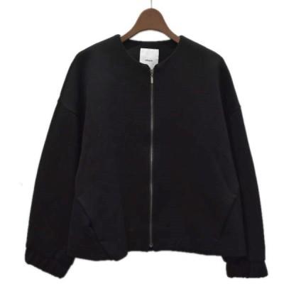 EBURE ライトボンディング ボリュームジャケット ブラック サイズ:36 (四ツ橋店) 200917