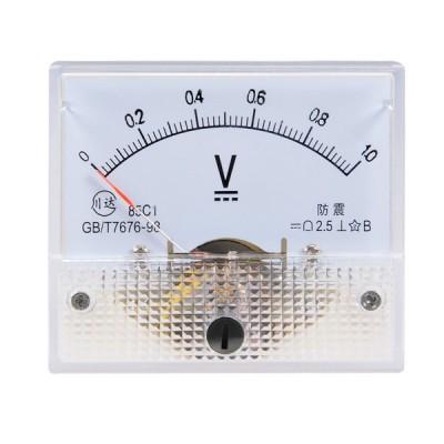 uxcell 電圧計 アナログパネル電圧ゲージ 誤差マージン2.5% DC 0-1V 85C1