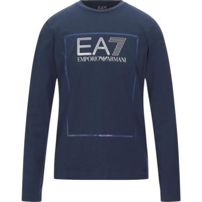 イーエーセブン EA7 メンズ Tシャツ トップス t-shirt Dark blue