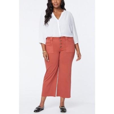 エヌワイディージェイ デニムパンツ ボトムス レディース Plus Size Utility Detail Wide Leg Ankle Jeans Auburn