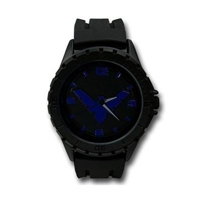 Nightwingシンボルブラック腕時計シリコンバンド並行輸入品