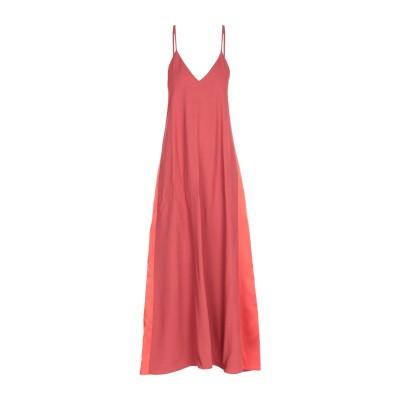 ANTONELLI ロングワンピース&ドレス 赤茶色 42 アセテート 75% / レーヨン 25% ロングワンピース&ドレス