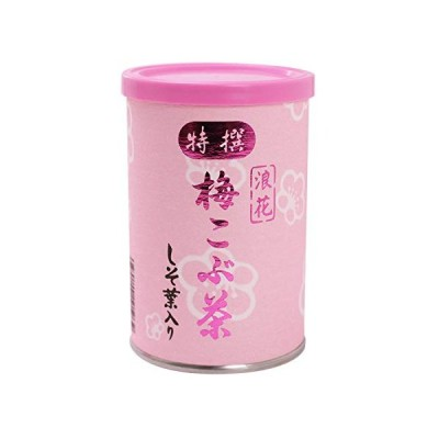浪花昆布茶本舗 梅こぶ茶 しそ葉入り (80g缶入り)