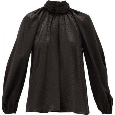 ジマーマン Zimmermann レディース ブラウス・シャツ トップス Spot-jacquard silk blouse Black