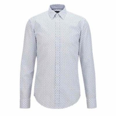 ヒューゴ ボス Boss メンズ シャツ トップス Ronni Shirt Open Blue
