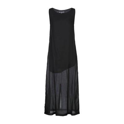 EUROPEAN CULTURE ロングワンピース&ドレス ブラック S コットン 100% ロングワンピース&ドレス