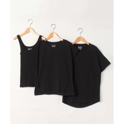 【ルーニィ】 3枚パックTシャツ レディース ブラック 38 LOUNIE
