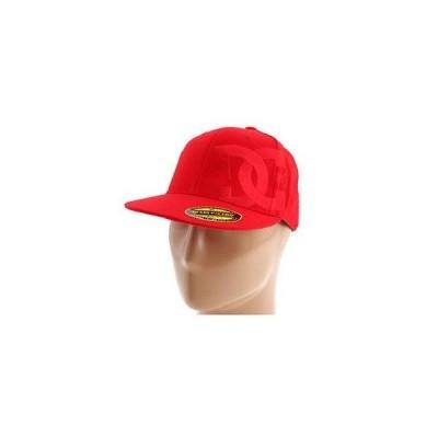 メンズ ファッション小物帽子DC Shoe Co. TONE DEF HAT - レッド 210 Flexfit メンズ Cap  サイズ: S/M!