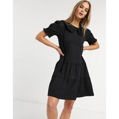 ウエアハウス レディース ワンピース トップス Warehouse collared t-shirt dress in black