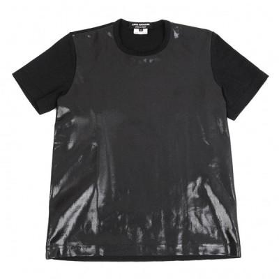ジュンヤワタナベ コムデギャルソンJUNYA WATANABE COMME des GARCONS 樹脂加工プリントTシャツ 黒S 【レディース】