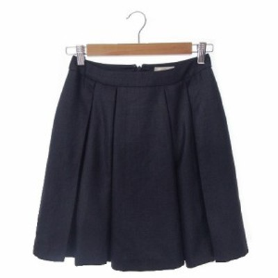 【中古】テチチ Te chichi スカート プリーツ ミニ M 紺 ネイビー /AH14 ☆ レディース