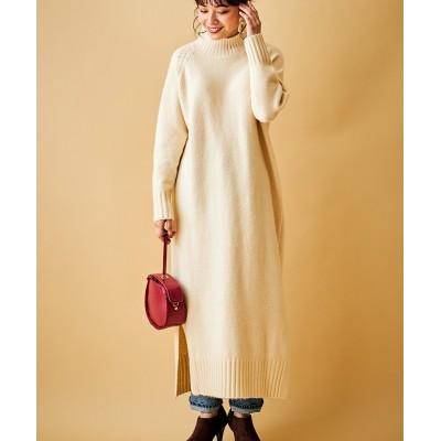 ハイネックニットロングワンピース (ワンピース)Dress
