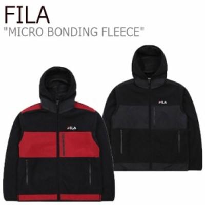 フィラ フリース FILA MICRO BONDING FLEECE マイクロ ボンディング フリース ブラック ダーク レッド FS2FTB4007X ウェア