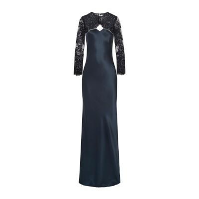 MICHELLE MASON ロングワンピース&ドレス ダークブルー 0 シルク 100% ロングワンピース&ドレス
