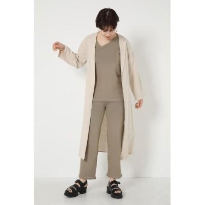 【シェルターセレクト】 ベルト付きロングガウン(Belted Long Gown) レディース ベージュ FREE SHEL'TTER SELECT