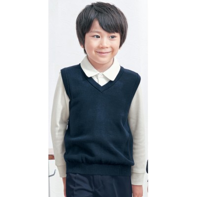 Vネックベスト【幼稚園 小学生】【女の子 男の子】(ジータ/GITA basic for school)