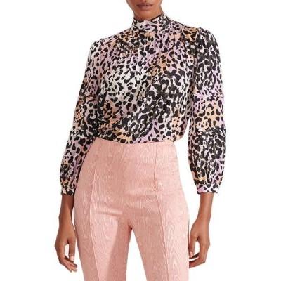 ヴェロニカ ベアード シャツ トップス レディース Lety Pintuck Cheetah Print Stretch Silk Blouse Lilac Multi