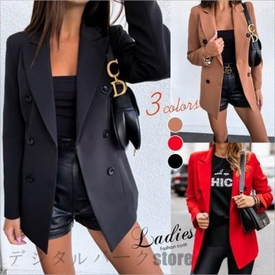 テーラードコートスーツレディースブレザージャケットコートレディーストップスアウター欧米通勤セール
