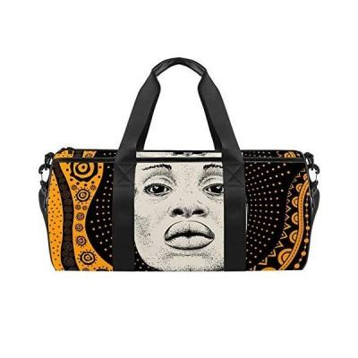 Sport Duffel Bag African Girl Black Woman Gym Bag Kids Swimming Bag Weekend