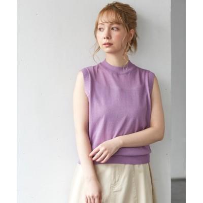 Honeys / インナー付ノースリニット WOMEN トップス > ニット/セーター