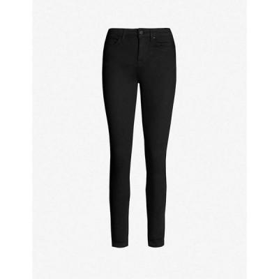 リース REISS レディース ジーンズ・デニム スキニー ボトムス・パンツ Lux mid-rise skinny jeans BLACK