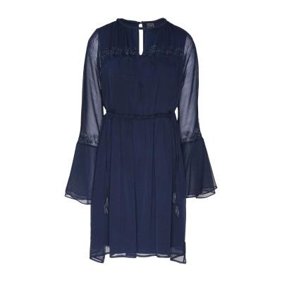 8 by YOOX ミニワンピース&ドレス ダークブルー 38 ポリエステル 100% ミニワンピース&ドレス
