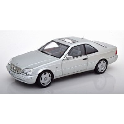 Norev ノレヴ 1/18 ミニカー ダイキャストモデル 1997年モデル メルセデスベンツ CL600 Coupe メタリックシルバー