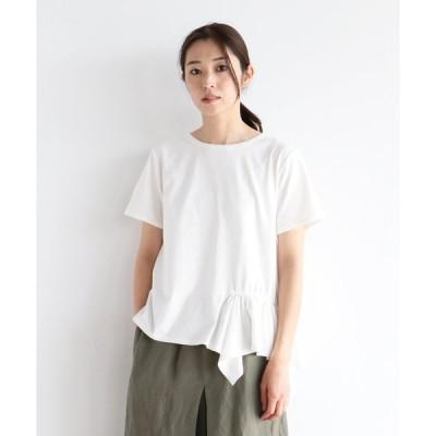 【ラシュッド】MIREPOIX 【手洗い可】アシメトリー フリルTシャツ