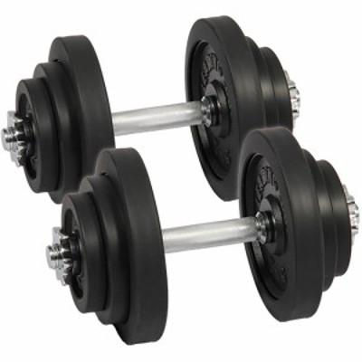 リーディングエッジ ラバーダンベル 40kg セット 片手 20kg 2個セット ブラック LE-DB20 ダンベルセット 【トレーニング器具 スポーツ用