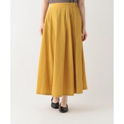 スカート サイドボタンロングスカート