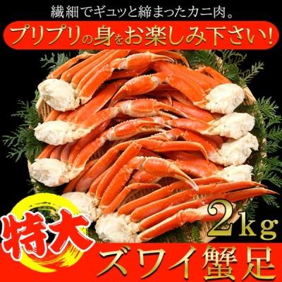 ズワイ蟹 足 特大 2kg プリプリ食感 冷凍 国産 贈り物 プレゼント