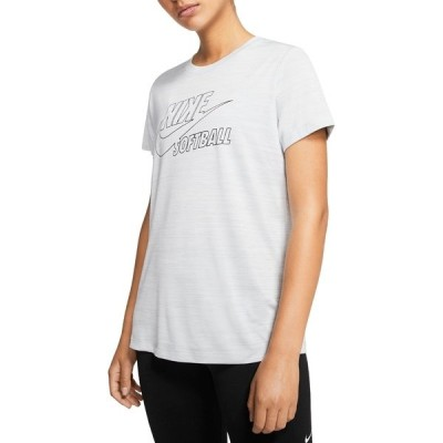 ナイキ トップス レディース ランニング Nike Women's Legend Velocity Softball T-Shirt Pure Platinum
