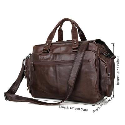 ビジネスバッグ本革メンズ大容量高級本革ブリーフケース16インチPC対応メンズレザー2WAY通勤鞄3室出張鞄収納豊富ブラック
