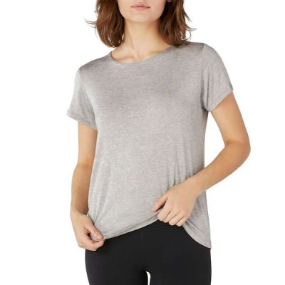 ビヨンドヨガ Beyond Yoga レディース Tシャツ トップス Over Under Relaxed Tee Light Heather Gray
