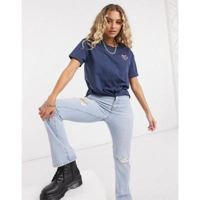 ペペジーンズ Pepe Jeans レディース Tシャツ トップス Fleur T-Shirt In Navy