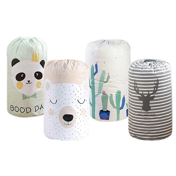 北歐風束口防潮防水收納袋/棉被袋 1入 款式可選【小三美日】