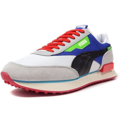 "Puma FUTURE RIDER RIDE ON ""LIMITED EDITION for LIFESTYLE"" WHT/BLK/BLU/RED/SAX/N.GRN/L.GRY (372838-01)"