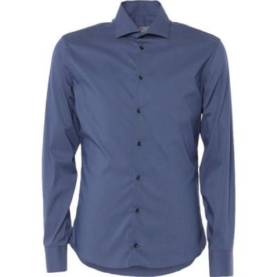 ジャンフランコ GIANFRANCO CENCI メンズ シャツ トップス Solid Color Shirt Blue