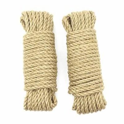 サイザルロープ 丈夫麻縄 ジュートロープネコ爪とぎ爪を磨き キャットタワー 麻なわ麻紐 梱包ロープ 爪とぎ 高級経験者おもちゃ 防水収納