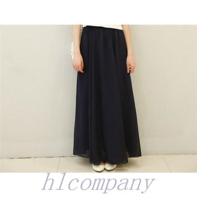 スカート体型カバーレディースロングカートゆったりファション大きいサイズパンツ可愛い春秋