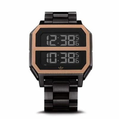 Adidas Watches Archive_MR2. Black Stainless Steel, 22mm Band Width (41mm Case) - All Black/Copper
