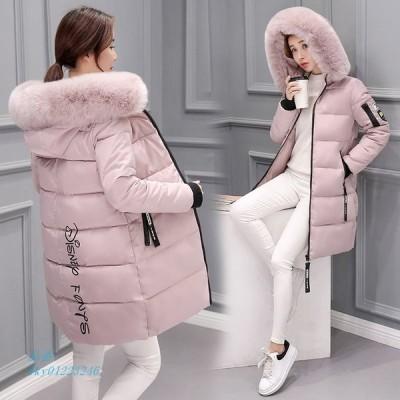 中綿コート アウター レディース 暖かい ロング丈 フード付 オシャレ