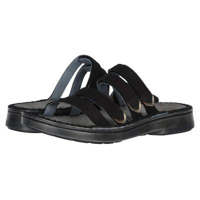ナオト Naot レディース サンダル・ミュール シューズ・靴 Trevi Black Velvet Nubuck/Pewter Leather
